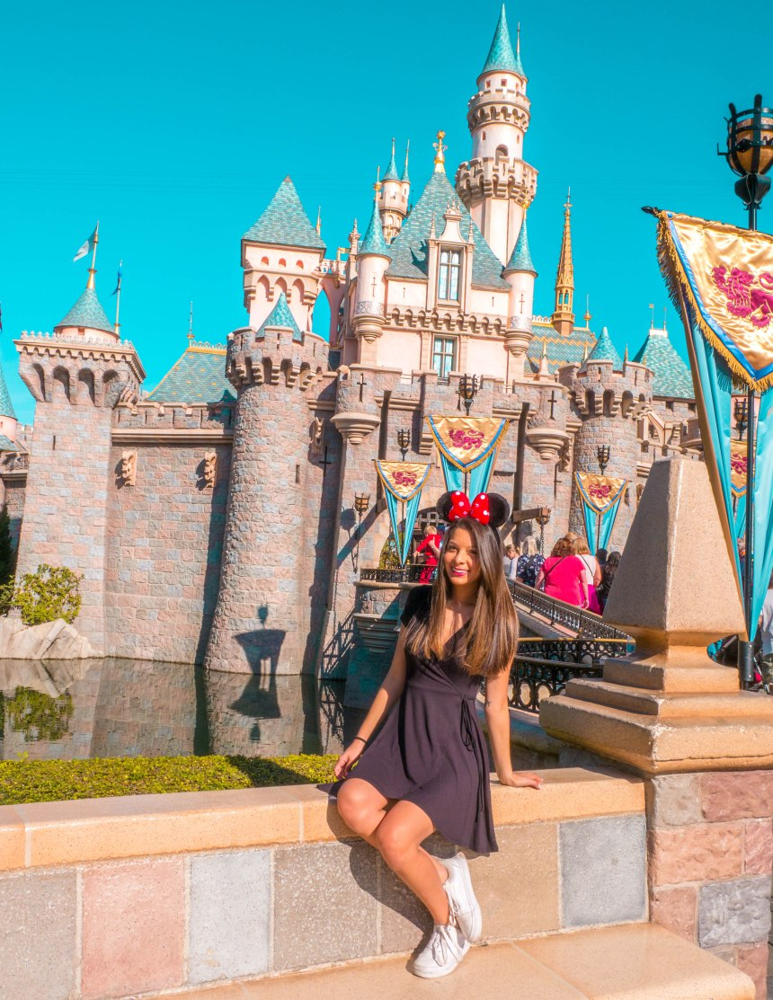 Andrea in front of Castle