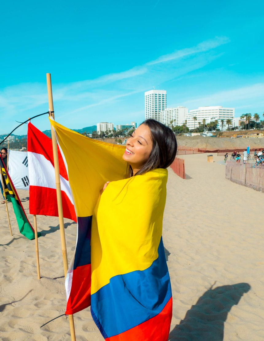 Me with Colombian Flag
